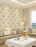 Solid Wallpaper For Home Luxury Wall Covering  Non-woven fabric Material Adhesive required Wallpaper  Room Wallcovering