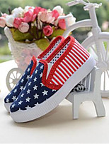 Girl's Sneakers Fall Comfort / Round Toe Canvas Casual Flat Heel Lace-up Blue Others