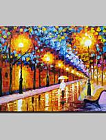 Handgemalte Abstrakt / Landschaft / Abstrakte Landschaft Ölgemälde,Modern Ein Panel Leinwand Hang-Ölgemälde For Haus Dekoration