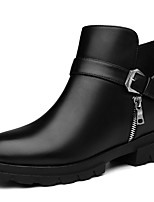 Women's Boots Spring / Fall / Winter Combat Boots Synthetic Office & Career / Casual Chunky Heel Black/Red Snow Boots