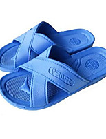 Unisex Slippers & Flip-Flops Spring Fall PVC Outdoor Casual Flat Heel Others Blue Red Other