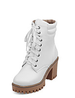 Women's Boots Fall / Winter Combat Boots PU Outdoor / Dress / Casual Chunky Heel Others Black / White / Gray Others