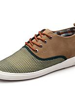 Синий Коричневый Хаки-Мужской-Повседневный-Ткань-На плоской подошве-Удобная обувь-Туфли на шнуровке