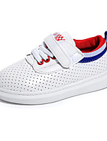 Boy's Sneakers Fall / Winter Round Toe PU Casual Flat Heel Lace-up Green / Red / White Others