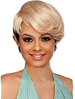 Mix Color Black/Blonde Short Hair Synthetic Wigs Fashoin Wigs European Style
