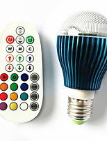 9W GU10/E26/E27/B22 RGB LED Globe Bulbs 3W High Power LED 450 lm Dimmable /Music-Controlled /Remote-Controlled