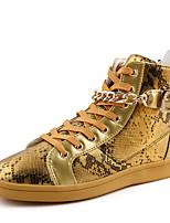 Черный Белый Золотистый-Мужской-Повседневный-Ткань-На плоской подошве-Удобная обувь-Кеды