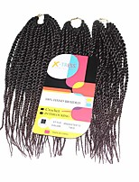 Senegal Twist Black Auburn 1b/33 Synthetic Hair Braids 12inch Kanekalon 81 Strands 125g  Multipal Pack for Full Heads