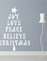 AYA DIY Wall Stickers Wall Decals Christmas Festival The Alphabetic Tree Style PVC Stickers 42*60cm
