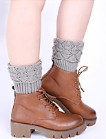 Women's Winter Knitting Warm Flanging Sailing Scallops Leg Warmers