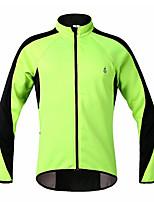 WOSAWE  Winter Fleece Thermal Windproof Cycling Long Sleeve Jacket - Green