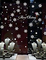 Christmas Snowflakes Beautiful And Romantic Creative Glass Window Background Decorative Wall Sticker