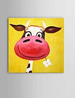 Handpainted Cow Oil Paintings Children Room Wall Art Decor Material With Frame Ready To Hang