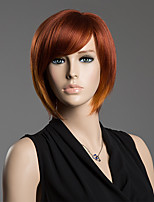 Bob Style Hair Capless Straight Real Natural Hair Side Bang Wig