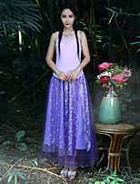 Our Story Women's Embroidered Purple SkirtsSophisticated Maxi