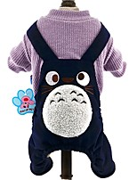 Cute Halloween Galesaur Animal Pattern Jumpsuits for Pets Dogs Dog Winter Fleece Dog Clothes