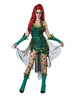 Costumes More Costumes Halloween / Oktoberfest Green Solid Terylene Dress / More Accessories