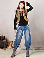 Our Story Women's Embroidered Blue Loose PantsBoho Spring / Fall