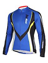 TASDAN® Maillot de Cyclisme Homme Manches longues Vélo Respirable / Séchage rapide / Pocket Retour Veste 100 % Polyester Couleur Pleine