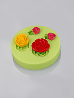 Rose flower shape silicone mold mould fondant cake decorating baking tools