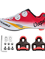 Cycling Shoes Unisex Outdoor / Road Bike Sneakers Damping / Cushioning White / Red-sidebike And LOOK Standard Lock Sheet