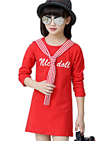Girl's Casual/Daily Print DressCotton Spring / Fall Black / Red / White