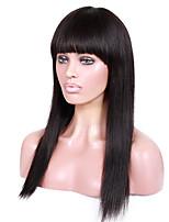 14-18inch braizlian девственной Remy человеческих волос яки прямо с полным восклицательного бесклеевой париков фронта шнурка для