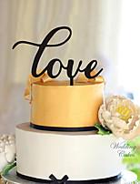 Украшения для торта Персонализированные не Сердца Акрил Свадьба Цветы Черный Классика 1 Подарочная коробка