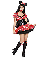 Costumes Déguisements thème film & TV Halloween Rouge Points Polka Térylène Robe / Plus d'accessoires