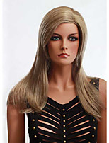 Blonde Color Straight European Synthetic Wigs Capless For Afro Women
