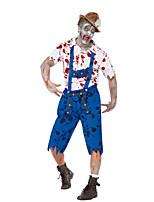 Costumes Plus de costumes Halloween / Fête d'Octobre Blanc / Bleu Mosaïque Térylène Haut / Pantalon / Plus d'accessoires