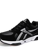 Hombre-Tacón Plano-Confort-Zapatillas de deporte-Informal-Tejido-Negro Azul Rojo
