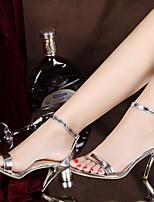 Damen-High Heels-Lässig-PU-Stöckelabsatz-Komfort-Silber / Gold