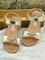 Girl's Sandals Summer Microfibre Casual Flat Heel Bowknot Silver Gold Others