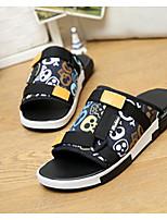Men's Slippers & Flip-Flops Spring Summer Fall Canvas Casual Flat Heel Animal Print Blue Walking