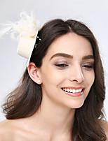 Dame Fjær / Tyll / Stoff Headpiece-Bryllup / Spesiell Leilighet / Avslappet fascinators 1 Deler