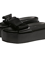 Women's Sandals Summer Sandals Leatherette Outdoor Platform Bowknot Black / White Others
