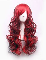Europe And The United States Woman Cos Harajuku Long Curly Hair Color Gradient Wig