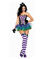 Costumes More Costumes Halloween / Oktoberfest Purple Patchwork Terylene Dress / More Accessories