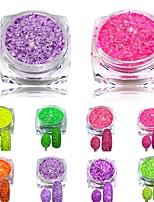 3g Nail Cheese Glitter Dust Powder Nail Art Tips Pigment Decorations Nail Powder Dust for Women DIY SN01-08