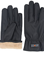 PU Men'S Thick Gloves Waterproof And Wind Proof Riding Motorcycle Gloves