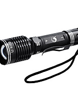 U`King® LED Flashlights/Torch / Clips and Mounts LED 1000LM Lumens 5 Mode Cree XM-L T6 18650 / AAADimmable / Adjustable Focus / Compact