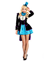 Costumes More Costumes Halloween Black / Sky Blue Patchwork Terylene Dress / More Accessories