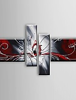 Hand-painted Oil Paintings Abstract  Phoenix Red White Flowing Lines  Wall Art Stretched Frame Ready To Hang