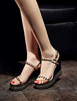 Women's Heels Spring / Fall Heels Leather Outdoor Stiletto Heel Others Black Others