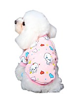 Lovely Cartoon Character Pattern Fleece T-Shirt Coat for Pets Dogs (Assorted Sizes and Colours)