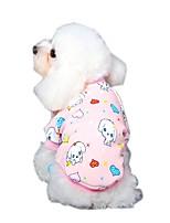 katten / honden T-shirt / Hemd / Sweatshirt Blauw / Roze / Geel / Grijs Hondenkleding Winter / Lente/Herfst Dieren / KaraktersHalloween /