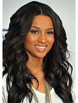 Natural Black Color Middle Parting Brazilian Virgin Remy Human Hair Glueless Lace Front Wig With Baby Hair