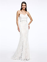 Lanting Bride® Trumpet / Mermaid Wedding Dress Court Train Sweetheart Lace with Crystal / Lace