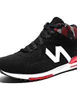 Men's Sneakers Spring / Fall Comfort Fabric Casual Flat Heel  Black / Blue / Red Sneaker